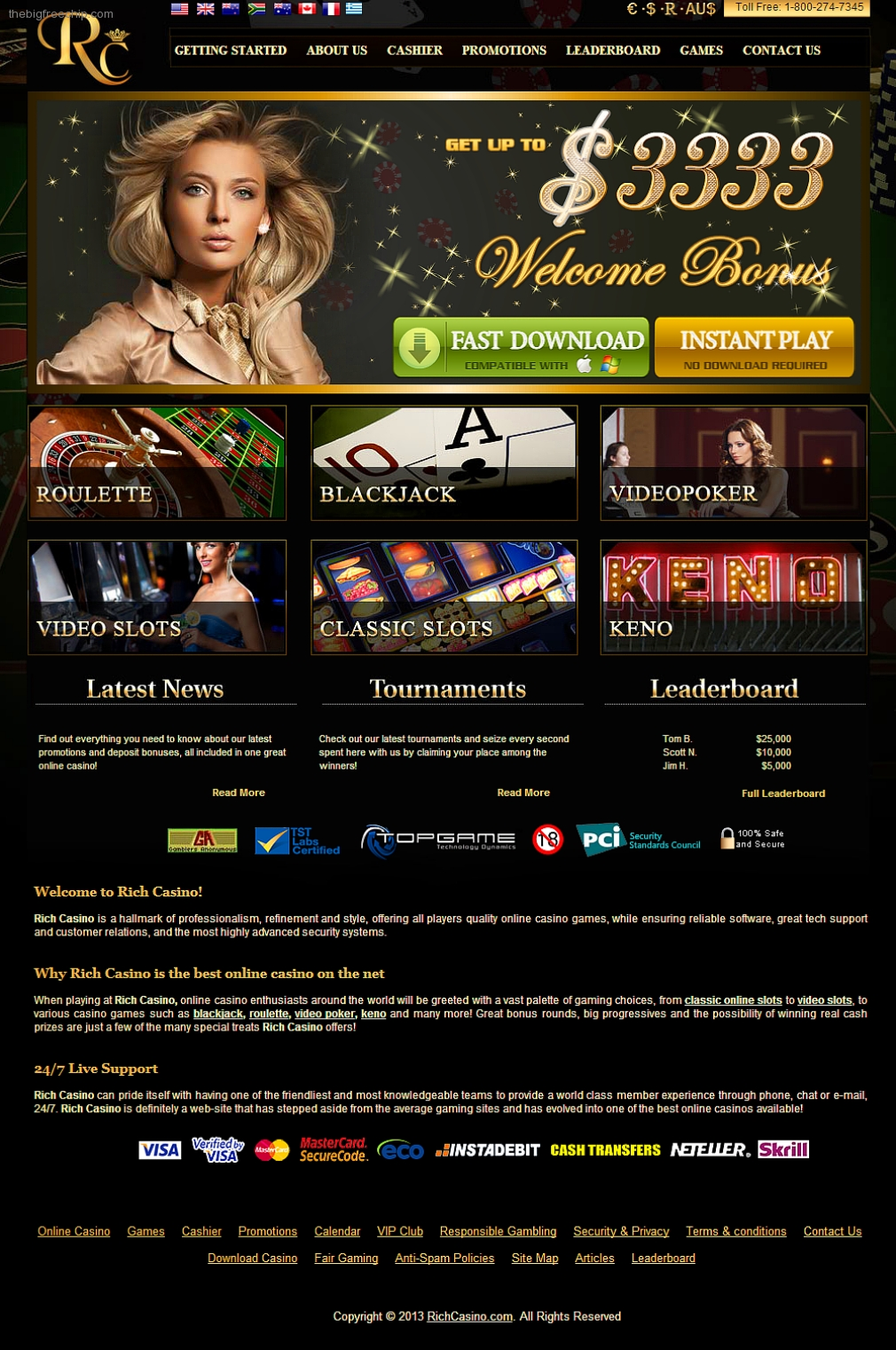 Free bonuses at online casinos illegal gambling websites